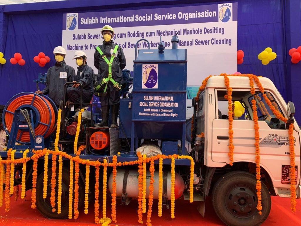 Sulabh unveils sewer cleaning machine to prevent deaths of Safai workers