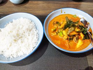 Thai Red Curry and rice