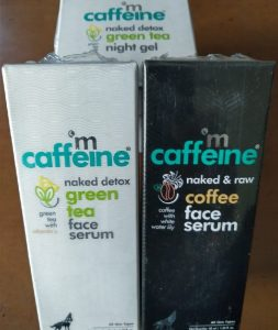 mCaffeine's Green Tea based Face Care Products