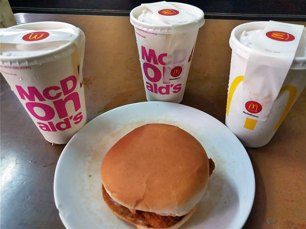 McDonald's 'Chili' burgers and 'Orange Fizz'