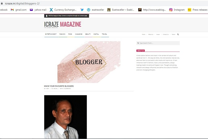 My Interaction With www.icraze.in